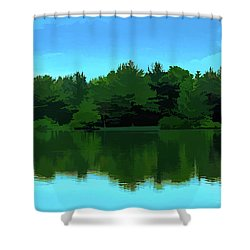 The Lake - Impressionism Shower Curtain
