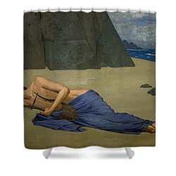 The Lamentation Of Orpheus Shower Curtain by Alexandre Seon