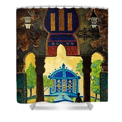 The Lamp's Garden Shower Curtain