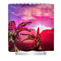 Shower Curtain featuring the photograph The Land Before Time 1 by Naomi Burgess