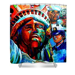 The Land Of The Free  Shower Curtain