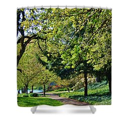 The Lane At Waverly Pond Shower Curtain