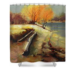 The Last Beam Of Light Shower Curtain