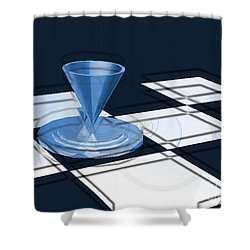 The Last Chess Pawn Shower Curtain