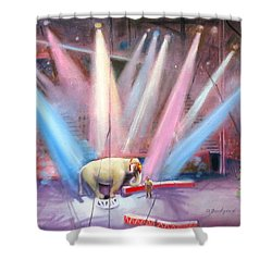 The Last Circus Elephant Shower Curtain by Oz Freedgood