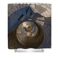 Shower Curtain featuring the photograph The Last Garden by Alex Lapidus