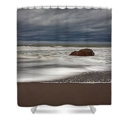 The Last Holdout Shower Curtain by Mark Alder