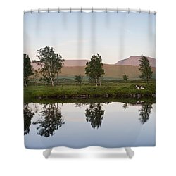The Last Light At Loch Ba Shower Curtain