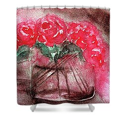 The Last Red Roses Shower Curtain