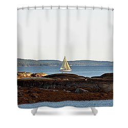 The Last Sail Shower Curtain by Christopher Mace