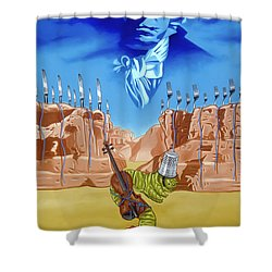Shower Curtain featuring the painting The Last Soldier An Ode To Beethoven by Paxton Mobley
