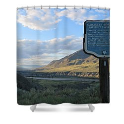 The Last Spike Shower Curtain