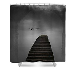 The Last Steps Shower Curtain