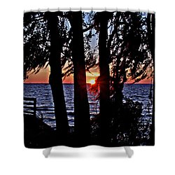 The Last Sun Shower Curtain