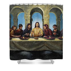 The Last Supper Shower Curtain by Joey Agbayani