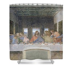 The Last Supper Shower Curtain by Leonardo da Vinci