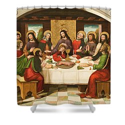 The Last Supper Shower Curtain by Master of Portillo