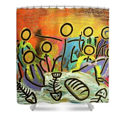 The Last Supper Recitation Shower Curtain
