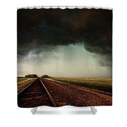 The Last Train To Darksville Shower Curtain