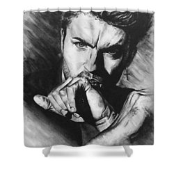 The Late Great George Michaels Shower Curtain