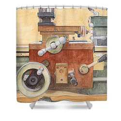 The Lathe Shower Curtain