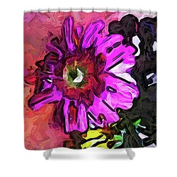 The Lavender Flower Above The Yellow Flower Shower Curtain