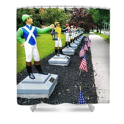 The Lawn Jockeys Of Saratoga Springs Shower Curtain