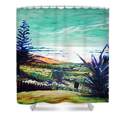 The Lawn Pandanus Shower Curtain