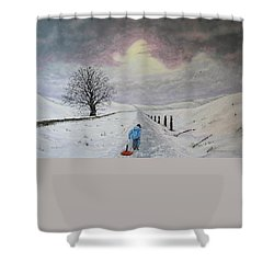 The Leader Of The Pack Shower Curtain by Paul Newcastle