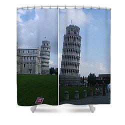 The Leaning Tower Of Pisa Shower Curtain by Patsy Jawo