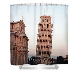 The Leaning Tower Of Pisa Shower Curtain by Marna Edwards Flavell