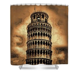 Shower Curtain featuring the photograph The Leaning Tower Of Pisa by Tom Prendergast