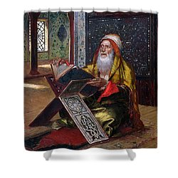 The Lectern Shower Curtain by Ernst Rudolphe