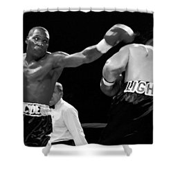 The Left Jab Shower Curtain by David Lee Thompson