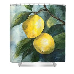 The Lemon Tree Shower Curtain by Torrie Smiley