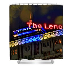 Shower Curtain featuring the photograph The Lenox And The Pru - Boston Marathon Colors by Joann Vitali