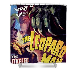 The Leopard Man Shower Curtain by Movieworld Posters