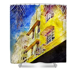 The Leslie Hotel South Beach Shower Curtain