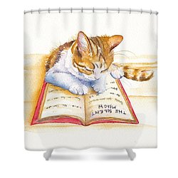 The Lesson Shower Curtain by Debra Hall