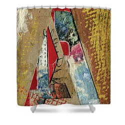 The Letter A Shower Curtain