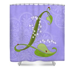 The Letter L For Lily Of The Valley Shower Curtain