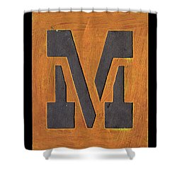 The Letter M Shower Curtain