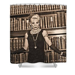 The Librarian Shower Curtain