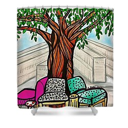The Libray Reading Tree Shower Curtain
