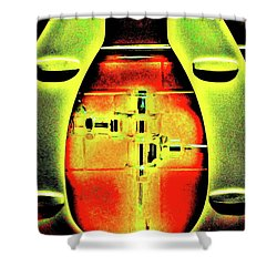 Shower Curtain featuring the photograph The Lid by John King