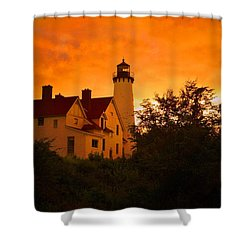 The Light At Dusk Shower Curtain