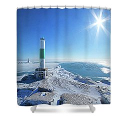 Shower Curtain featuring the photograph The Light Keepers by Phil Koch