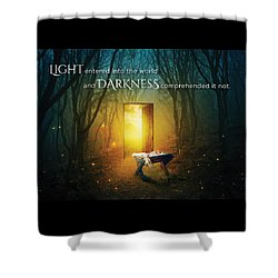 The Light Of Life Shower Curtain