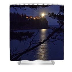 Shower Curtain featuring the photograph The Light Shines Through by Larry Ricker