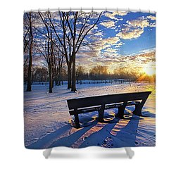 Shower Curtain featuring the photograph The Light That Beckons by Phil Koch